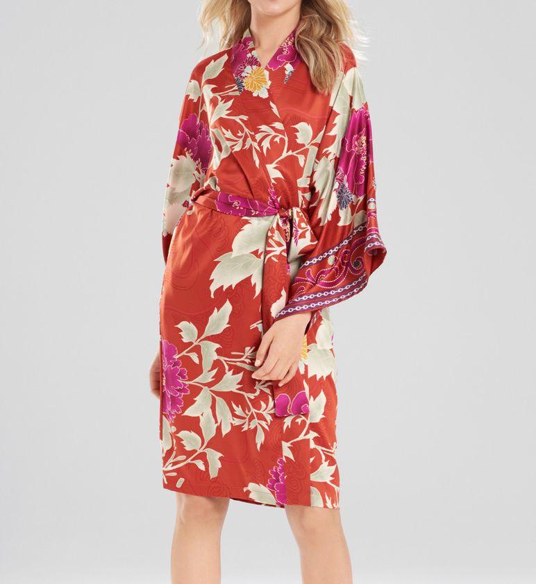 Natori Auburn Floral Wrap Robe