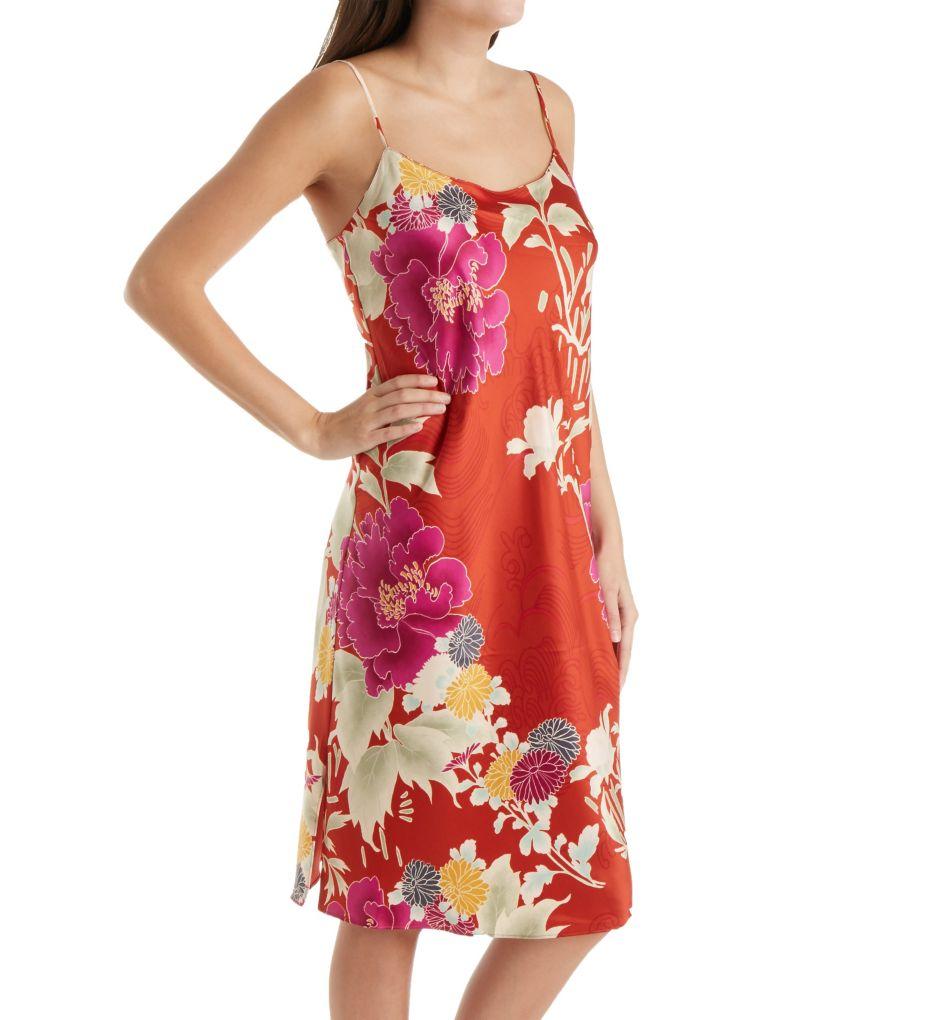 Natori Auburn Floral Slip Gown