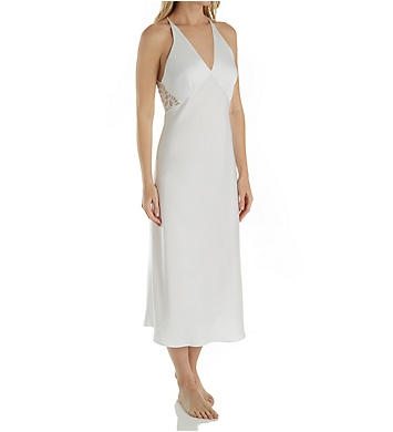 Natori Feathers Satin Gown with Lace