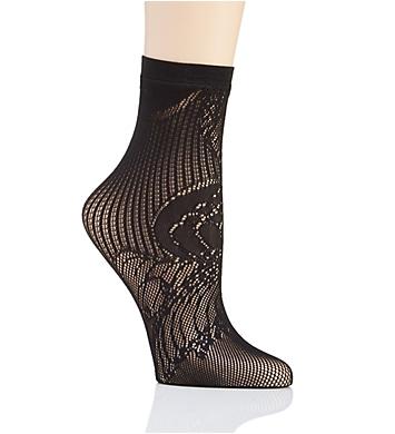 Natori Plume Lace Net Crew Sock