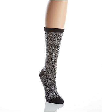 Natori Fan Lace Crew Sock