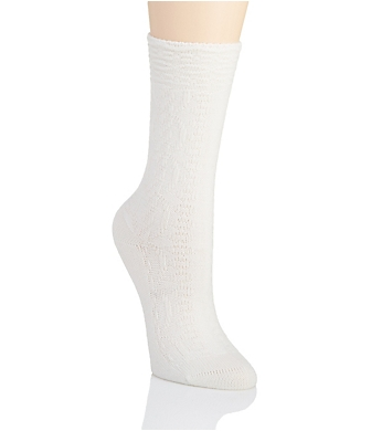 Natori Rib Texture Cashmere Blend Crew Sock