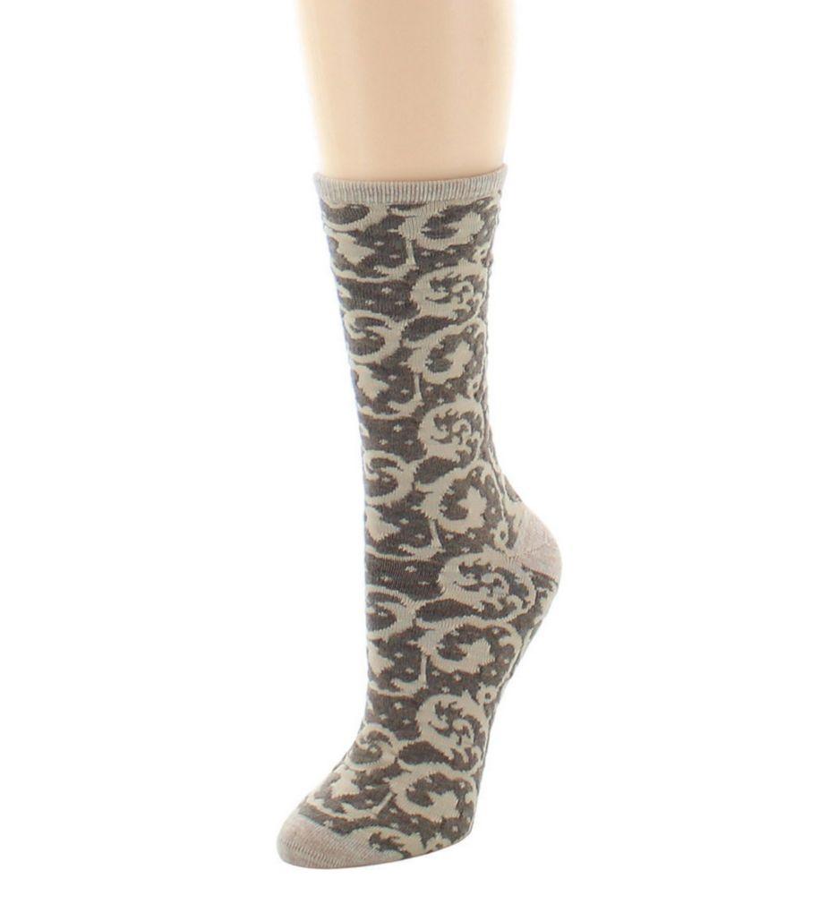 Natori Etched Geo Crew Wool Blend Sock