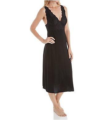 Natori Zen Floral Modal Knit with Lace Nightgown