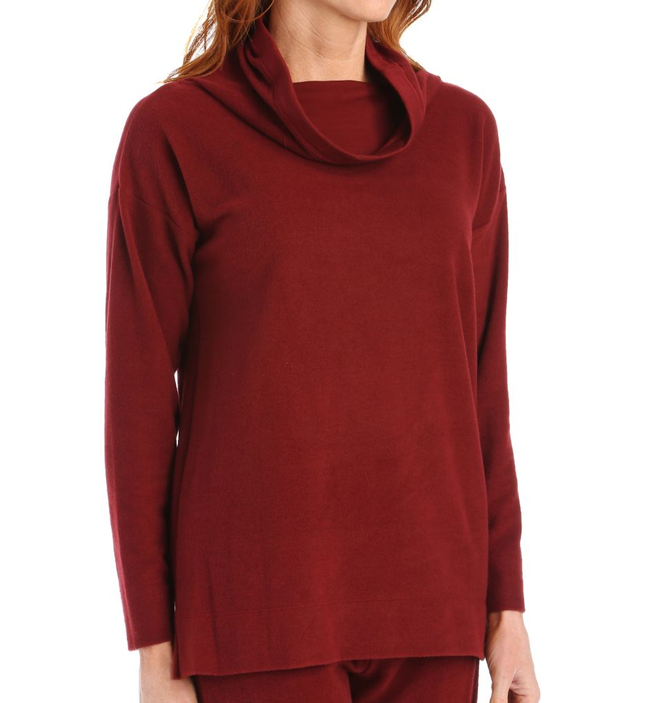 Natori Brushed Knit Long Sleeve Top
