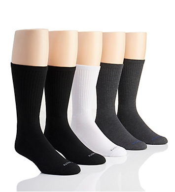 Nautica Basic Core Athletic Crew Socks - 5 Pack