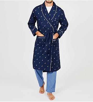 Nautica J Class Print Anchor Robe
