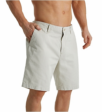 Nautica Anchor Twill Classic Fit Flat Front Deck Short