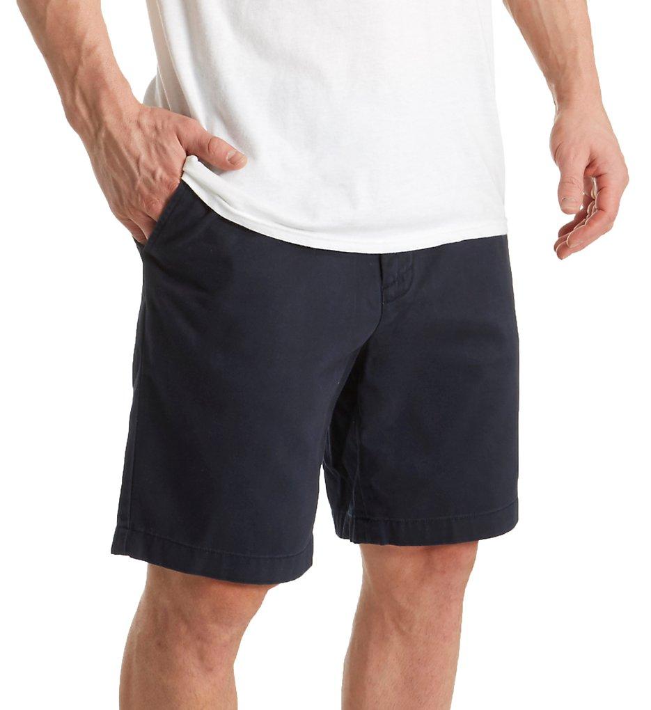 nautica b92110 anchor 100% cotton twill short (true navy 40 waist)