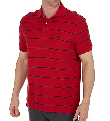 Nautica Performance Wicking Striped Polo Shirt