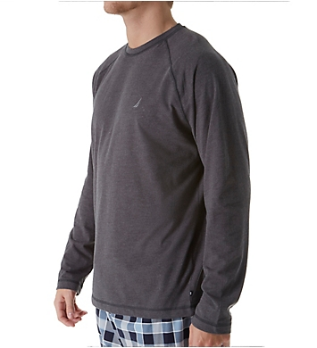 Nautica Sueded Jersey Long Sleeve Crew Shirt