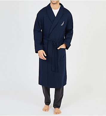 Nautica Anchor Sueded Jersey Robe