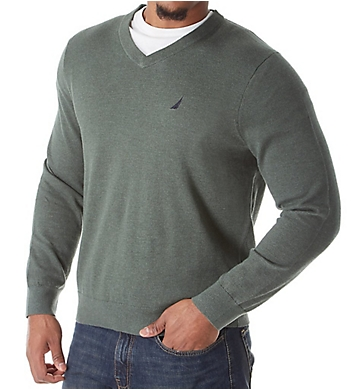 Nautica Tall Man Jersey Cotton V-Neck Sweater