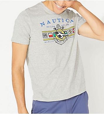 Nautica Big Man Colored Flags Crew Neck T-Shirt
