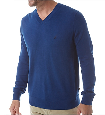 Nautica Cotton Modal V-Neck Sweater