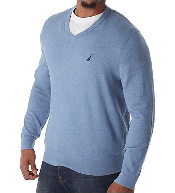 Nautica Jersey Cotton V-Neck Sweater