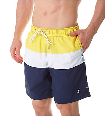 Nautica Tri Color Fashion Swim Trunk