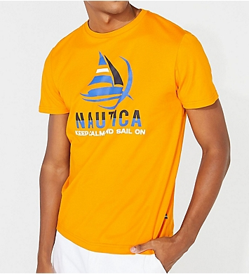 Nautica Keep Calm Cotton Crew Neck T-Shirt