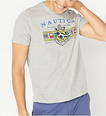 Nautica Colored Flags Anchor Crew Neck T-Shirt