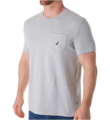 Nautica Solid Anchor Crew Neck Pocket T-Shirt