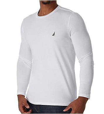 Nautica Solid Crew Neck Long Sleeve T-Shirt