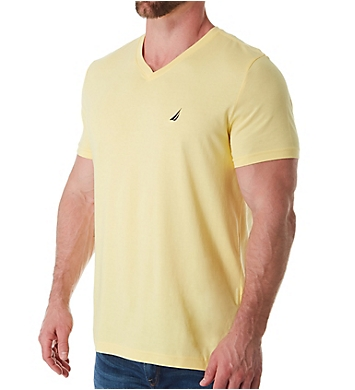 Nautica 100% Cotton V-Neck T-Shirt