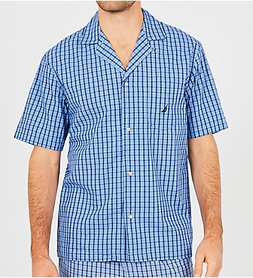 Nautica Plain Weave Short Sleeve Camp Shirt