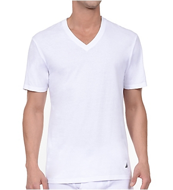 Nautica Cotton V-Neck T-Shirt - 3 Pack