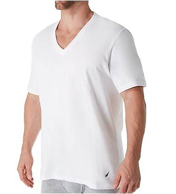 Nautica Cotton V-Neck T-Shirt - 4 Pack