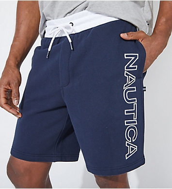 Nautica Big Man Fleece Knit Logo Short