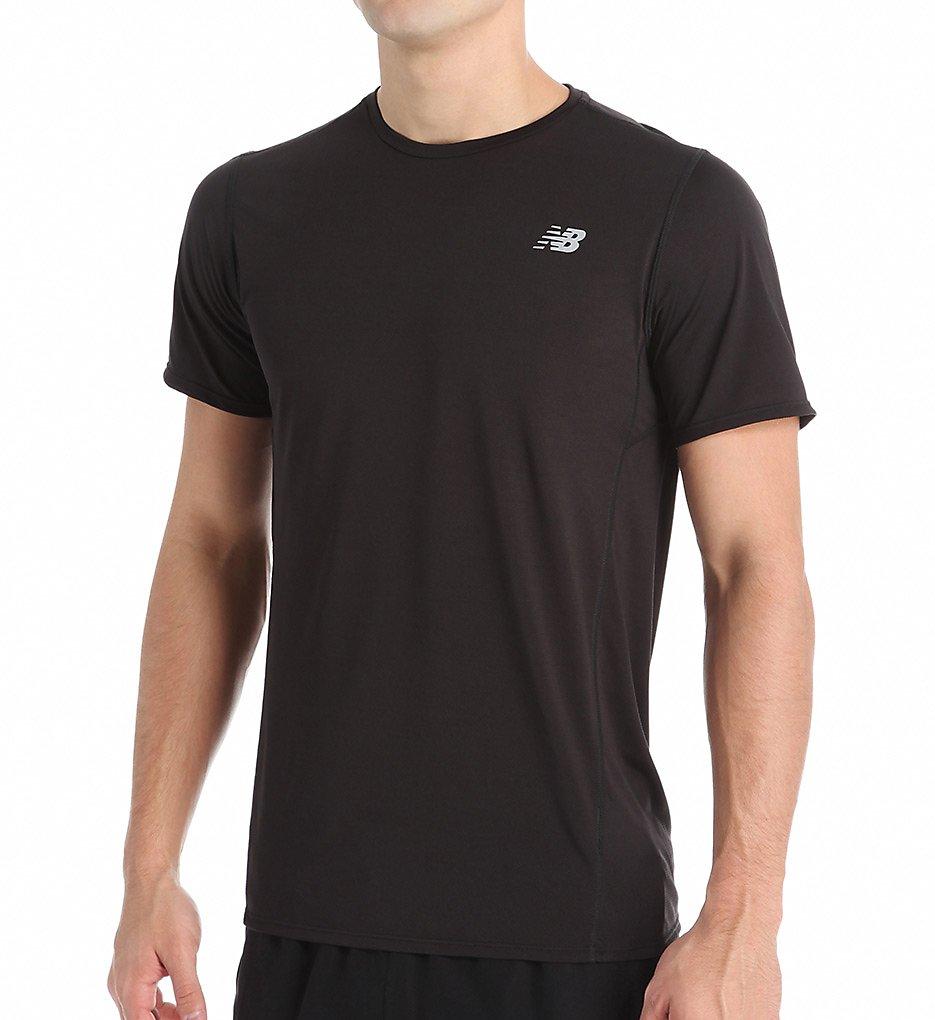 f344f00551b19 New Balance MT53061 Accelerate Short Sleeve Performance Shirt (Black M)