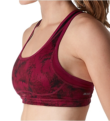 New Balance The Shapely Shaper A/B Cup Printed Sports Bra