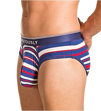 Obviously PrimeMan AnatoMAX Striped Brief