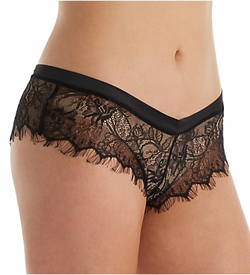 Oh La La Cheri Open Back Eyelash Lace Shorty Panty with Satin Tie
