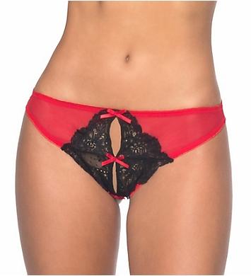 Oh La La Cheri Split Crotch Bow Panty
