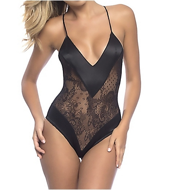 Oh La La Cheri Roxanne All Over Lace Teddy with Wide Satin Edges