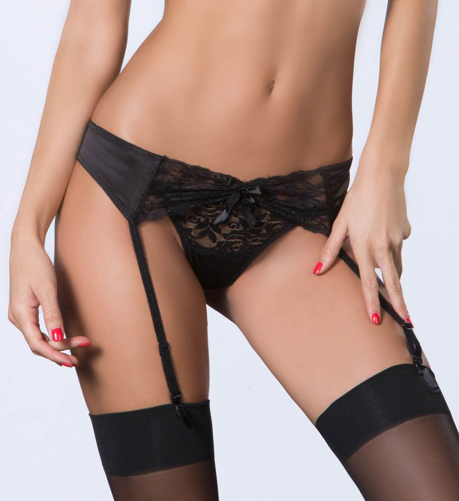 Oh La La Cheri Lace and Satin Garter Belt