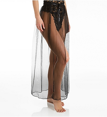 Oh La La Cheri Jeana High Waist Slip-Skirt With Front Tie