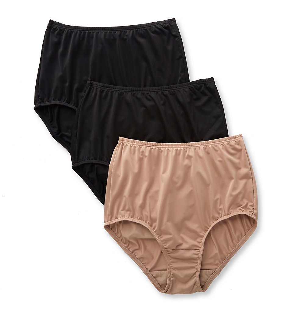 8d3982109d6d Olga 23173J Without A Stitch Micro Brief Panty - 3 Pack  (BlackToastedAlmondBlk 7)