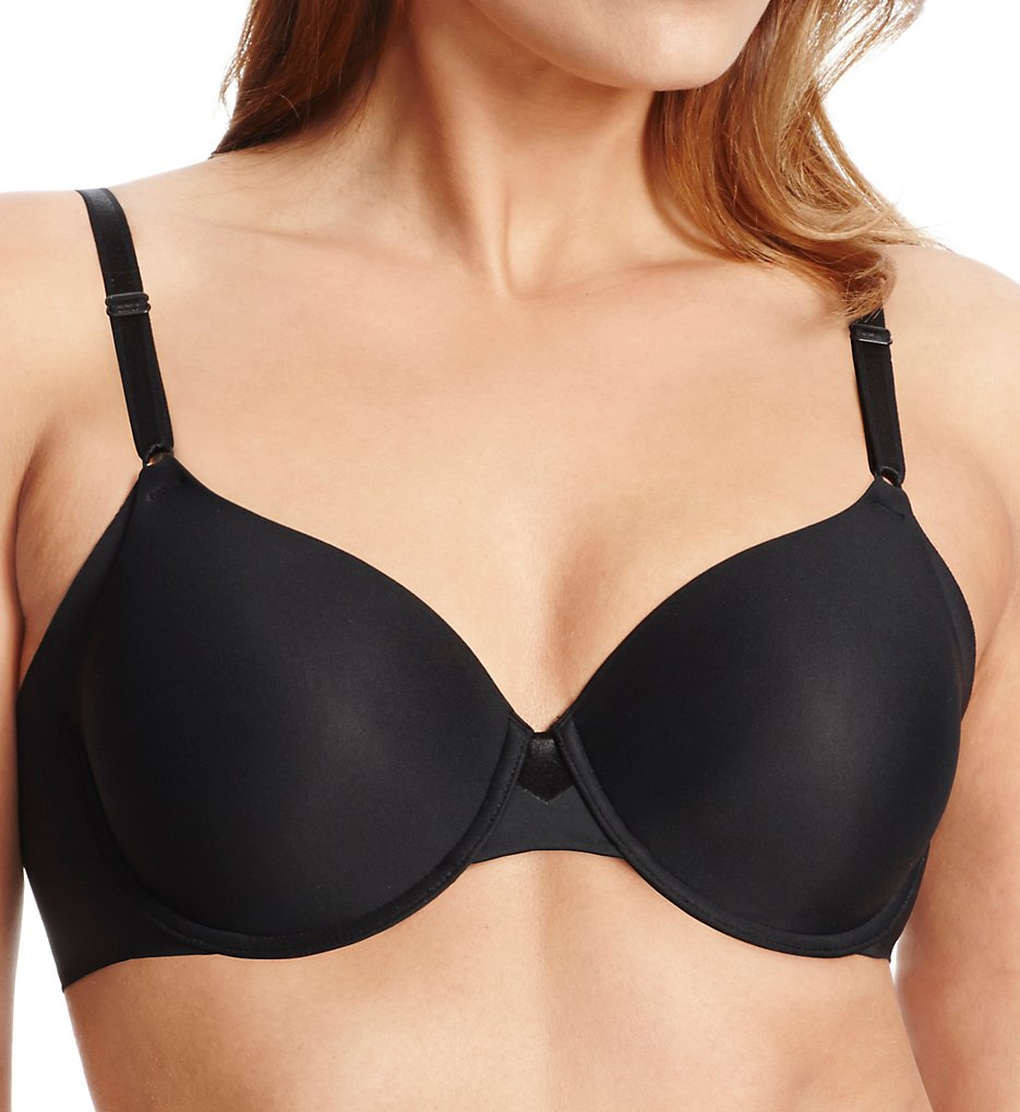 Olga - Olga GB0561A No Side Effects Contour Underwire Bra (Black 36C)
