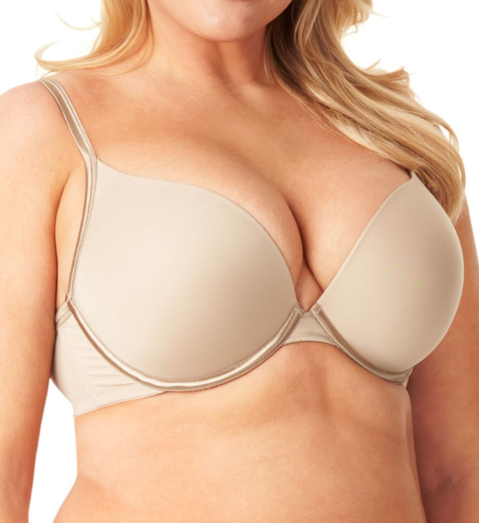 Olga Flirty Deep Plunge Contour Bra with Bump