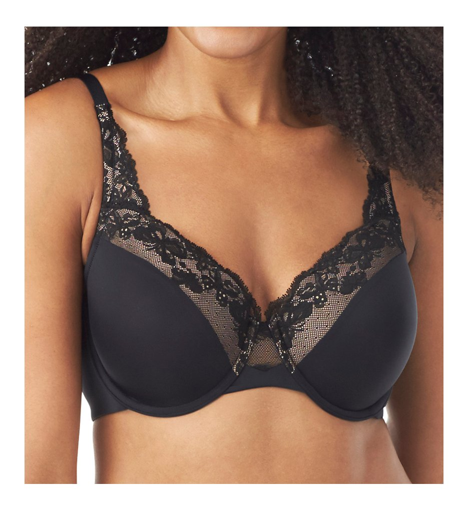 Olga - Olga GF7961A Cloud 9 Lace Underwire Contour Bra (Rich Black 36C)