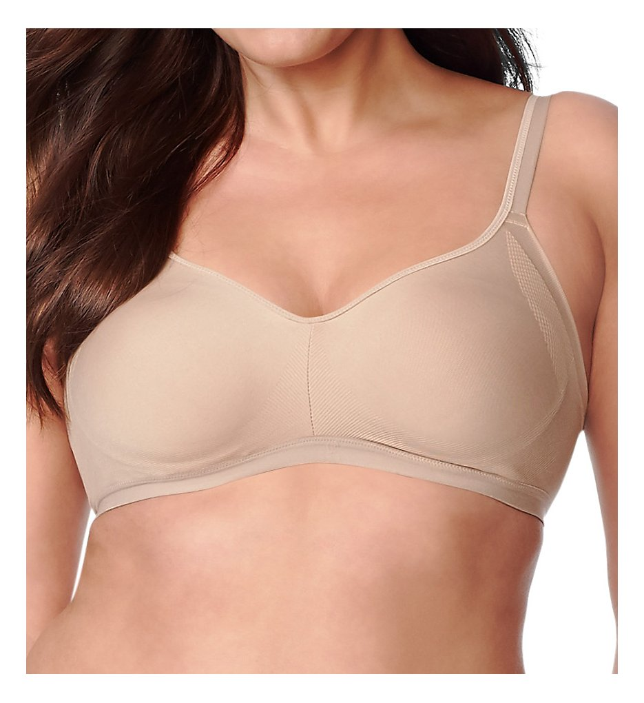 Olga GM3911A Easy Does It Wirefree Contour Bra (Toasted Almond)