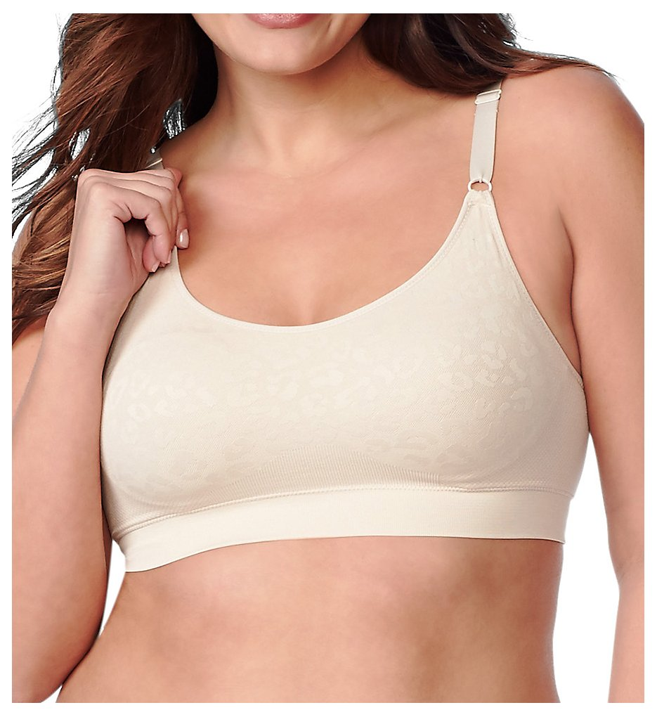 Olga GM9401A Easy Does It Jacquard Wirefree Contour Bralette (Butterscotch)