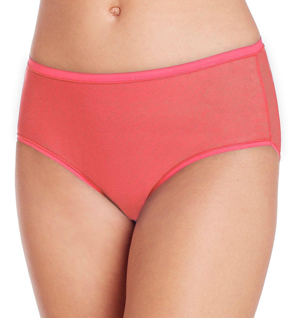 OnGossamer : OnGossamer 020850 Gossamer Mesh Modern Brief Panty (Vermillion S)