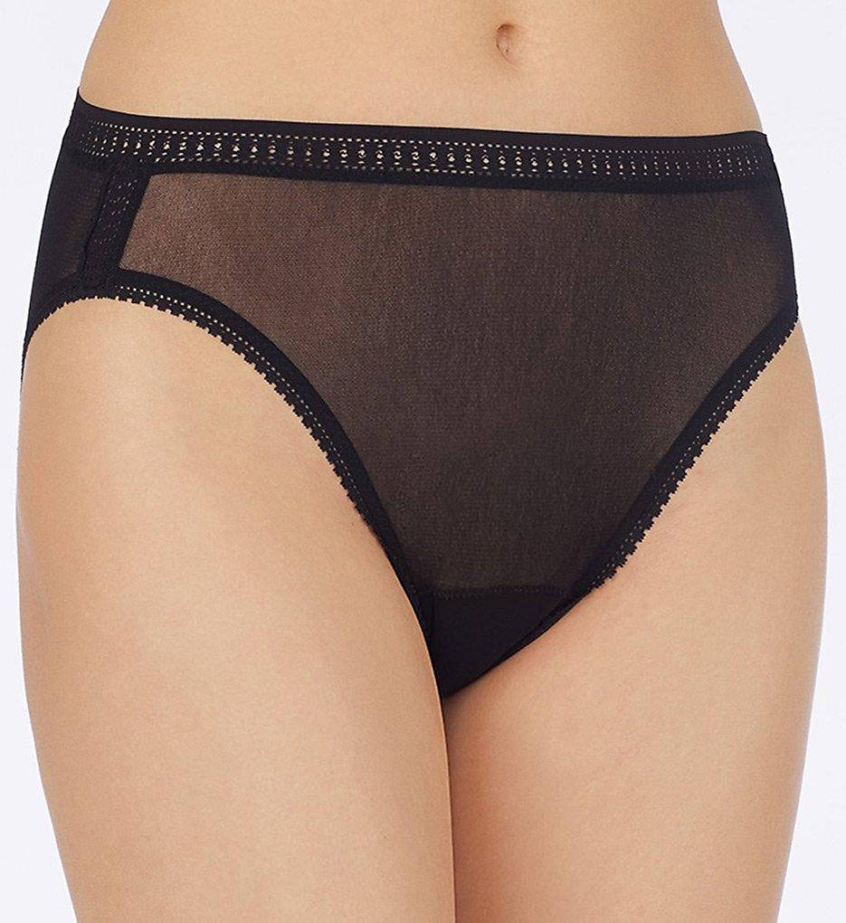 OnGossamer : OnGossamer 3012 Mesh Hi Cut Brief Panties (Black L)