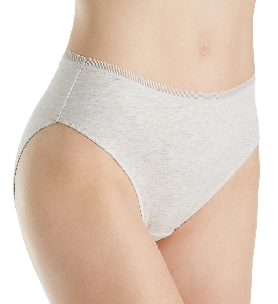 OnGossamer - OnGossamer G0132 Cabana Cotton Hi-Cut Brief (Heather Grey S)