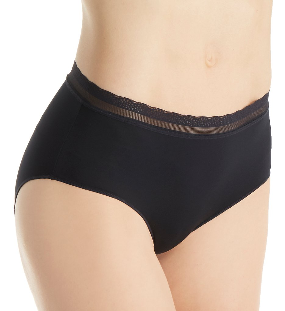 OnGossamer - OnGossamer G0170 Next to Nothing Modern Brief Panty (Black S)