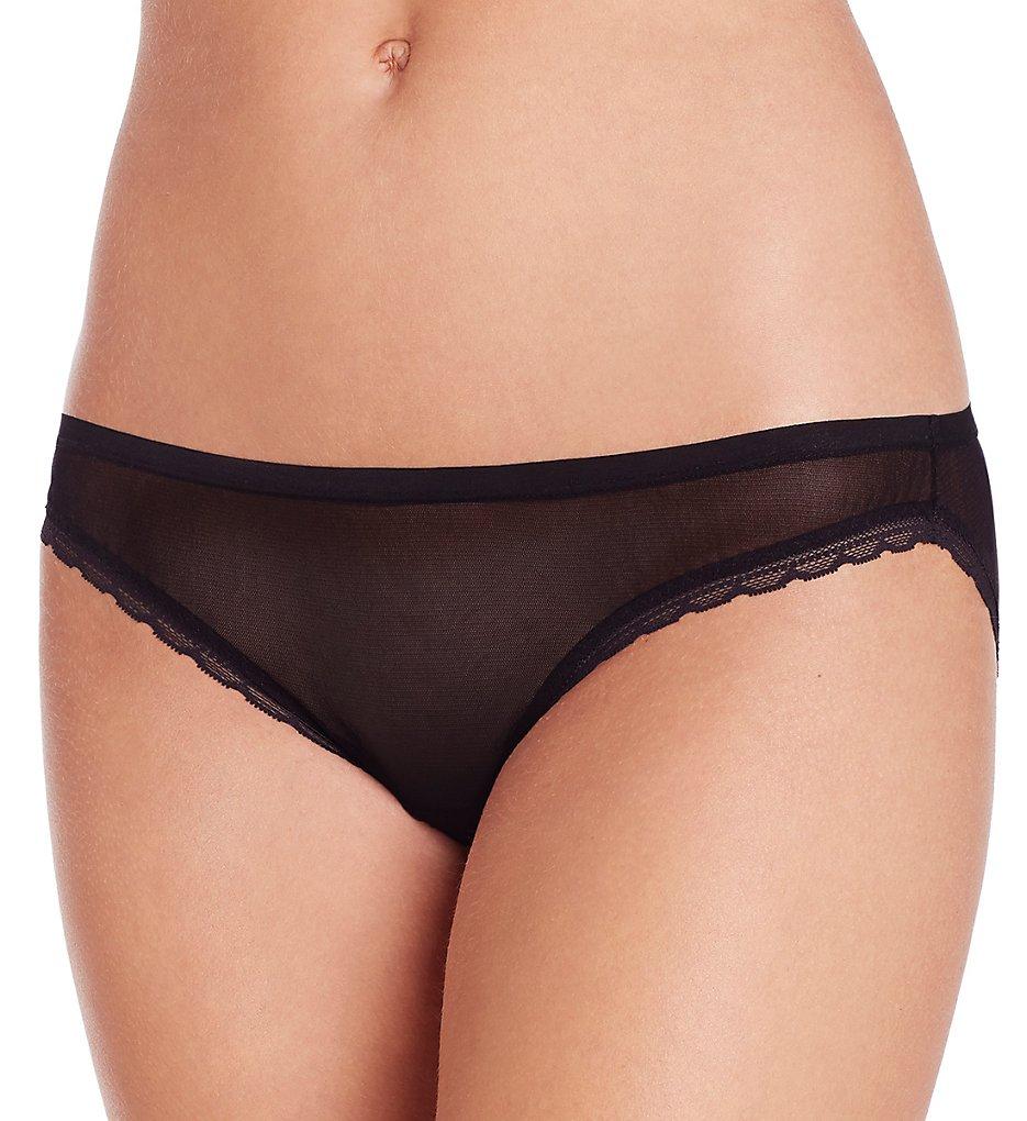 OnGossamer : OnGossamer G1110 Next To Nothing Hip-Bikini Panty (Black S)