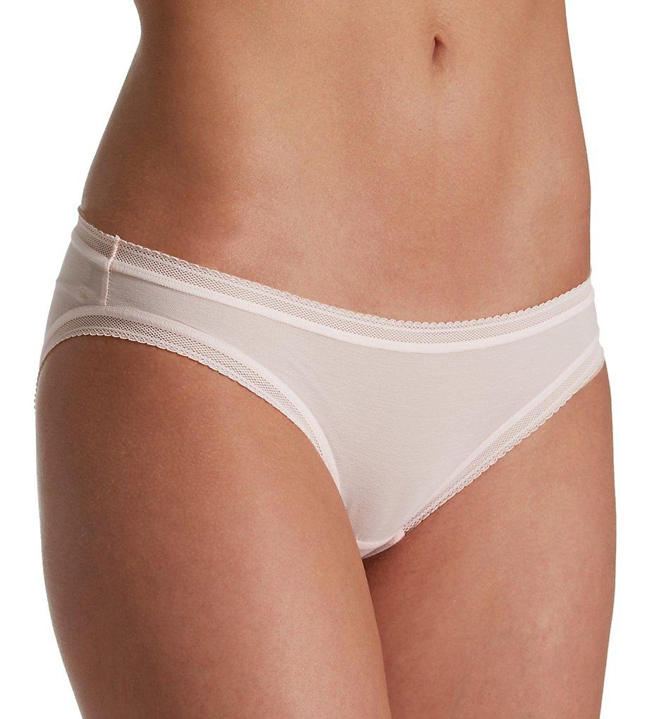 OnGossamer : OnGossamer G1130 Cotton Mesh Bikini Panty (Blush L)